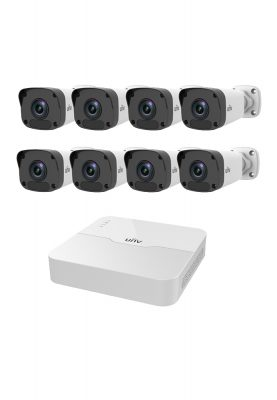 uniview,nvr,camera,kit,bullet cameras,8 channel