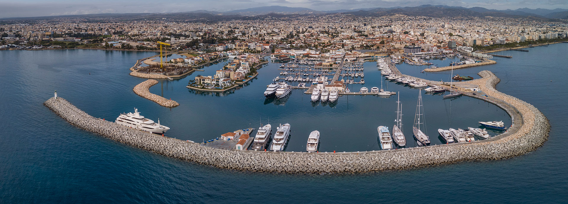 limassol port,aerial